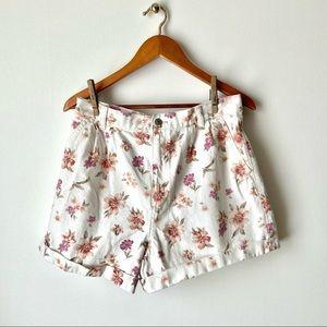 AEO Floral Print Mom Jean Shorts